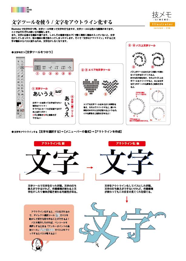 文字のアウトライン化 pdf
