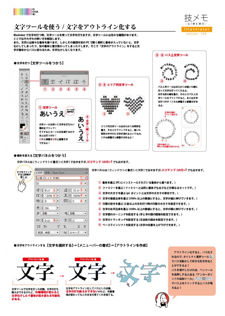 Illustrator_文字ツール/アウトライン